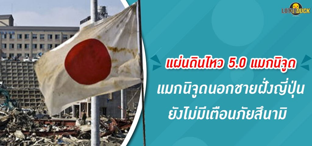 แผ่นดินไหว5.0แมกนิจูดนอกชายฝั่งญี่ปุ่น
